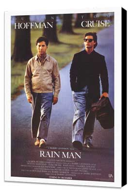Rain Man - 27 x 40 Movie Poster - Style A - Museum Wrapped Canvas