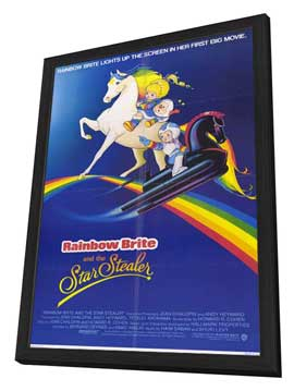 Rainbow Brite and the Star Stealer - 27 x 40 Movie Poster - Style A - in Deluxe Wood Frame