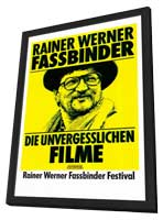 Rainer Werner Fassbinder - 11 x 17 Movie Poster - German Style B - in Deluxe Wood Frame