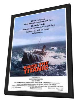 Raise the Titanic - 11 x 17 Movie Poster - Style A - in Deluxe Wood Frame