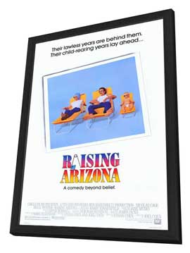 Raising Arizona - 27 x 40 Movie Poster - Style A - in Deluxe Wood Frame