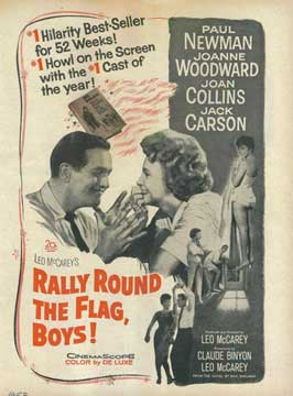 Rally 'Round the Flag, Boys! - 11 x 17 Movie Poster - Style B
