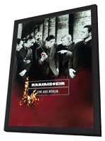 Rammstein: Live aus Berlin - 11 x 17 Movie Poster - German Style A - in Deluxe Wood Frame