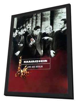 Rammstein: Live aus Berlin - 27 x 40 Movie Poster - German Style A - in Deluxe Wood Frame
