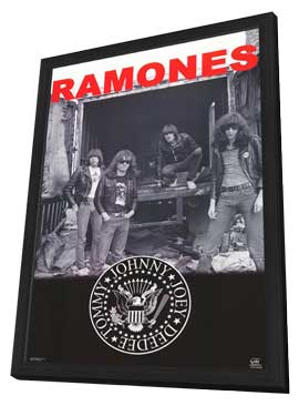 Ramones - 11 x 17 Music Poster - Style A - in Deluxe Wood Frame