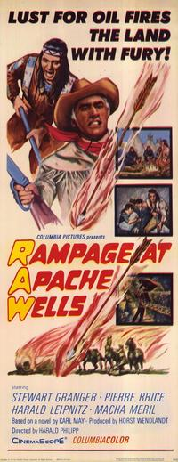 Rampage at Apache Wells - 14 x 36 Movie Poster - Insert Style A