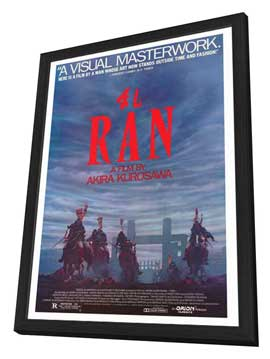 Ran - 27 x 40 Movie Poster - Style A - in Deluxe Wood Frame