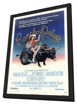 Rancho Deluxe - 27 x 40 Movie Poster - Style B - in Deluxe Wood Frame
