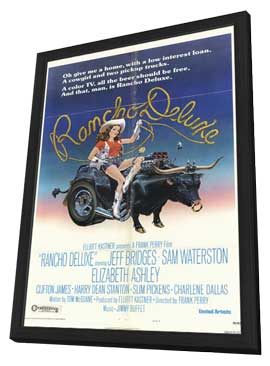 Rancho Deluxe - 11 x 17 Movie Poster - Style B - in Deluxe Wood Frame