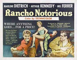 Rancho Notorious - 22 x 28 Movie Poster - Half Sheet Style A