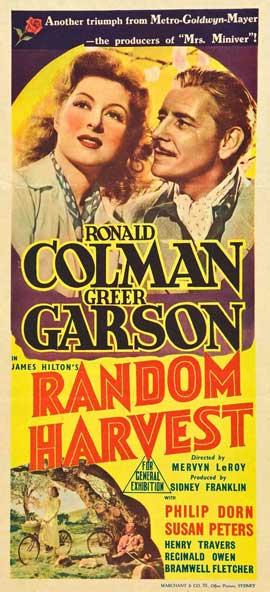 Random Harvest - 13 x 30 Movie Poster - Australian Style A