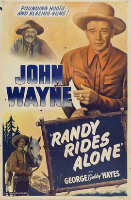 Randy Rides Alone - 27 x 40 Movie Poster - Style B