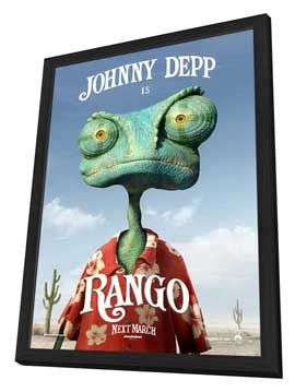 Rango - 11 x 17 Movie Poster - Style B - in Deluxe Wood Frame