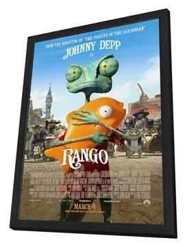 Rango - 27 x 40 Movie Poster - Style C - in Deluxe Wood Frame