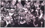 Rap Legends - Music Poster - 24 x 36 - Style G