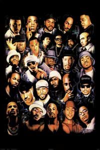 Rap Legends - Music Poster - 24 x 36 - Style A