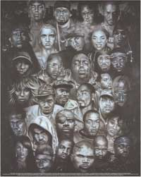 Rap Legends - Music Poster - 16 x 20 - Style A