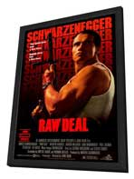 Raw Deal - 27 x 40 Movie Poster - Style B - in Deluxe Wood Frame