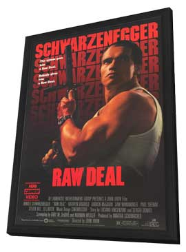 Raw Deal - 11 x 17 Movie Poster - Style B - in Deluxe Wood Frame