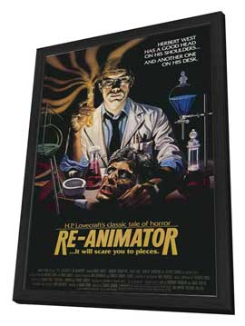 Re-Animator - 11 x 17 Movie Poster - Style B - in Deluxe Wood Frame