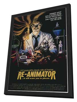 Re-Animator - 27 x 40 Movie Poster - Style B - in Deluxe Wood Frame