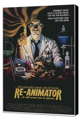 Re-Animator - 27 x 40 Movie Poster - Style B - Museum Wrapped Canvas