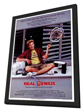 Real Genius - 27 x 40 Movie Poster - Style A - in Deluxe Wood Frame