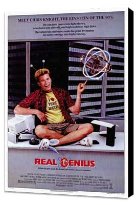 Real Genius - 27 x 40 Movie Poster - Style A - Museum Wrapped Canvas