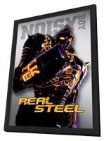 Real Steel - 27 x 40 Movie Poster - Style F - in Deluxe Wood Frame