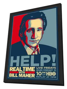 Real Time with Bill Maher - 11 x 17 Movie Poster - Style A - in Deluxe Wood Frame