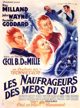 Reap the Wild Wind - 11 x 17 Movie Poster - French Style A
