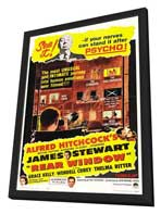 Rear Window - 27 x 40 Movie Poster - Style C - in Deluxe Wood Frame