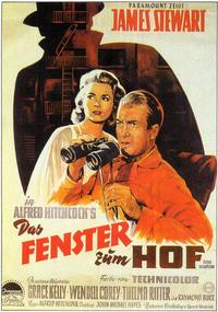 Rear Window - 11 x 17 Movie Poster - German Style A