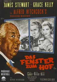 Rear Window - 11 x 17 Movie Poster - German Style B