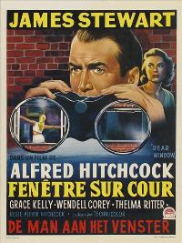 Rear Window - 11 x 17 Movie Poster - German Style I