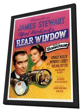 Rear Window - 11 x 17 Movie Poster - Style G - in Deluxe Wood Frame