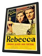 Rebecca - 11 x 17 Movie Poster - Style I - in Deluxe Wood Frame