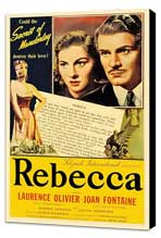 Rebecca - 11 x 17 Movie Poster - Style I - Museum Wrapped Canvas