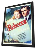 Rebecca - 27 x 40 Movie Poster - Style A - in Deluxe Wood Frame