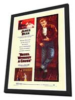 Rebel without a Cause - 27 x 40 Movie Poster - Style A - in Deluxe Wood Frame