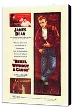 Rebel without a Cause - 27 x 40 Movie Poster - Style A - Museum Wrapped Canvas