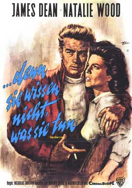 Rebel without a Cause - 11 x 17 Movie Poster - German Style B