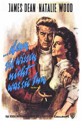 Rebel without a Cause - 27 x 40 Movie Poster - German Style A