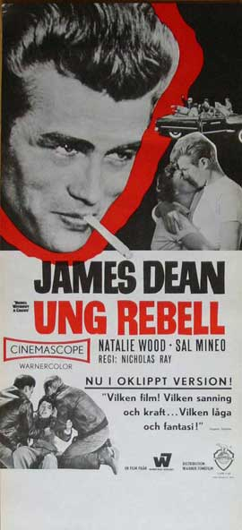 Rebel without a Cause - 11 x 17 Movie Poster - Swedish Style A