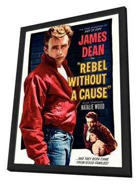 Rebel without a Cause - 11 x 17 Movie Poster - Style J - in Deluxe Wood Frame