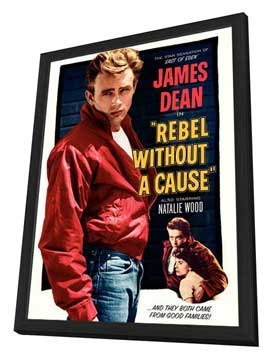 Rebel without a Cause - 27 x 40 Movie Poster - Style B - in Deluxe Wood Frame