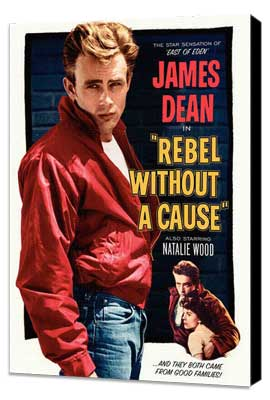 Rebel without a Cause - 27 x 40 Movie Poster - Style B - Museum Wrapped Canvas