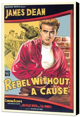Rebel without a Cause - 27 x 40 Movie Poster - Style D - Museum Wrapped Canvas