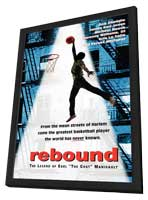 Rebound: The Legend of Earl 'The Goat' Manigault - 11 x 17 Movie Poster - Style A - in Deluxe Wood Frame