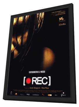 REC - 11 x 17 Movie Poster - Spanish Style A - in Deluxe Wood Frame